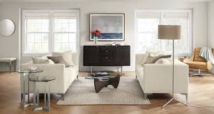 Two Different Sofas In Living Room by Modern Furniture Room U0026 Board