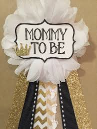gold crown and black baby shower mommy to be flower by afalasca
