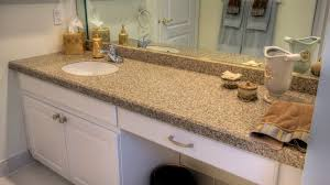 beige long granite bathroom vanity countertops under frameless