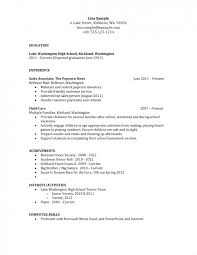 good resume exles for highschool students resume exle for highschool students fresh portray sles high