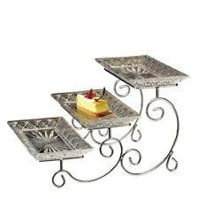 buffet table organizer 3 tier caddy 7pc serving utensil dish plate