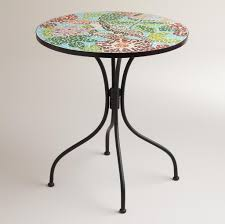 Square Bistro Table And Chairs Furniture Impressive Light Blue Mosaic Bistro Table Design