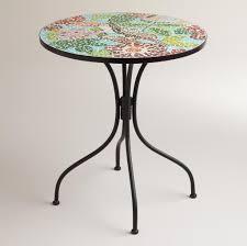 B Q Bistro Chairs Furniture Wonderful Floral Mosaic Bistro Table Design Enticing