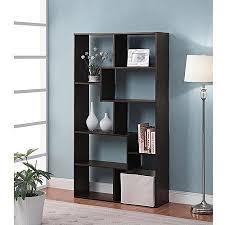 Espresso Corner Bookshelf Home 8 Shelf Espresso Narrow Corner Bookcase Wall U0027s Furniture