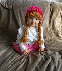 Cabbage Patch Kids Halloween Costume Baby Hat Cabbage Patch Hat Pigtail Wig Costume Photo Props