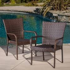 Stackable Outdoor Dining Chairs Wicker Patio Dining Chairs For Less Overstock Com