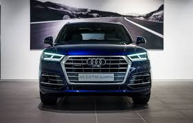 Audi Q5 Headlight - 2017 audi q5 in navarra blue metallic on display in neckarsulm