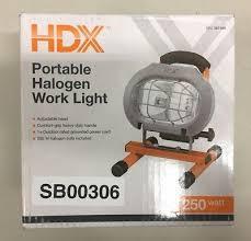 hdx portable halogen work light hdx 250 watt halogen portable work light r3 7630 12 00 picclick