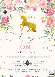 birthday invitations unicorn birthday invitations marialonghi