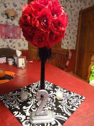Red And White Centerpieces For Wedding by Black White And Orange Center Pieces My Centerpiece Mock Up