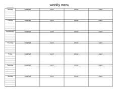 blank menu templates free blank weekly menu template expin franklinfire co
