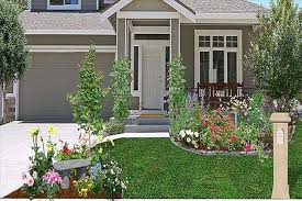 outdoor garden simple front yard landscaping ideas with green
