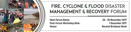agenda fire cyclone u0026 flood disaster management and recovery forum