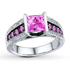 kay jewelers promise rings kay lab created pink sapphire square cut sterling silver ring