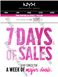nyx black friday 2017 sale cosmetics deals sales 2017