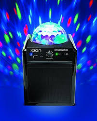 ion portable speaker system with party lights ion audio party power portable bluetooth speaker system with party