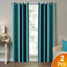 Teal Curtains Turquoize Solid Blackout Drapes Teal Blue Turquoise