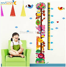 Aliexpresscom  Buy Giraffe Growth Chart Wall Stickers For Kids - Stickers for kids room