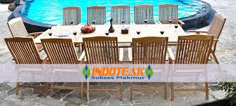 Hotel Pool Furniture Suppliers by Teak Outdoor Furniture Set Rectangular Double Leaf And Dorsets