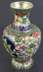 Antique Cloisonne Vases A Chinese Antique Cloisonne Silver Box Lot 36 Cloisonne