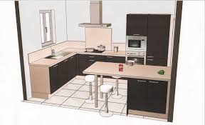 plan de cuisine en l plan de cuisine en et interieur maison moderne collection photo