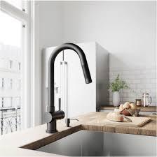 Matte Black Kitchen Faucet Sleek Single Handle Kitchen Faucets Centsational Style