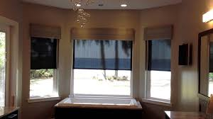 motorized overlapping screen shades bay window youtube