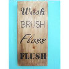Rustic Bathroom Signs - best bathroom sign to flush products on wanelo