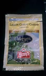 wendy u0027s lemon garlic caesar dressing photo