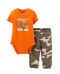 Cute Clothes For Babies Carter U0027s Baby Boy Bodysuit U0026 Sweat Pants Mummys Wing Little Man