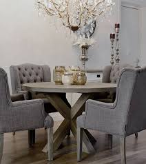 gray round dining table set attractive gray round dining table designs 48 distressed driftwood