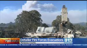 Wildfire Map Mariposa by 8 Structures Destroyed In Detwiler Fire As Flames Near Mariposa