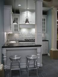 Small Basement Kitchen Ideas The Tile Shop Hampton Carrara Pillow Backsplash Notice The