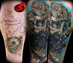 toad skull cover up by jackie rabbit custom flickr