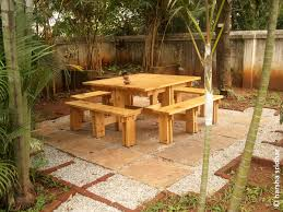Diy Small Round Wood Park Picnic Table With Detached Octagon Bench by Cozy Outdoor Picnic Table Plans Outdoor Picnic Table Plans Picnic
