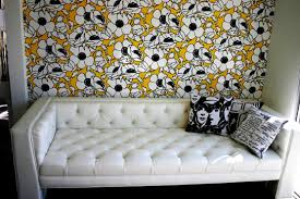 White Tufted Leather Sofa by Adding Color To A White Tufted Sofa