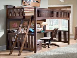 Loft Bed With Desk  Marvelous Space Saving Loft Bed Designs - Full size bunk bed with desk