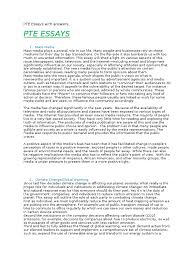 sample of essay writing pdf pte essays with answers tourism mass media