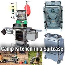 Portable Camping Kitchen Organizer - the portable camping kitchen table lets you prepare and serve food