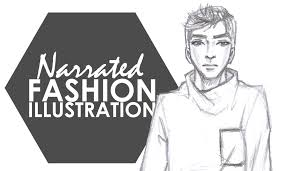 male fashion illustration my complete narrated process part 1