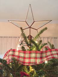 beveled glass tree topper simple five point rustic