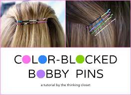 bobbie pins color blocked bobby pins at or so she says the thinking closet