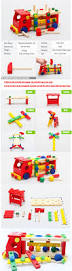 knocking balls toys wooden assemble truck toys for kids learning
