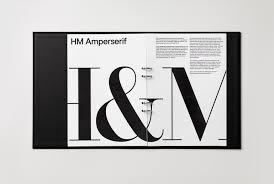 fashion forward fonts for h m monotype