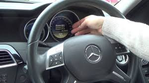 mercedes a class service how to reset the service indicator light on a 2012 mercedes c