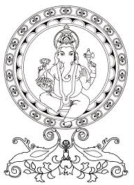 ganesh india u0026 bollywood coloring pages for adults justcolor