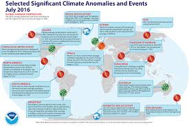 North America Climate Map by Global Climate Report July 2016 State Of The Climate
