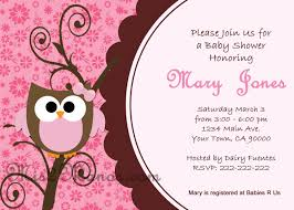 baby shower invitations pink owl baby shower invitations