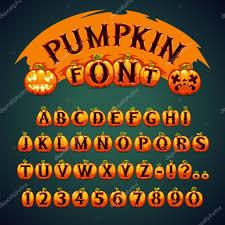 halloween pumpkin font u2014 stock vector voysla 54372259