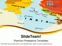 New Delhi India Map by India On Map Globe Powerpoint Templates Themes And Backgrounds Ppt
